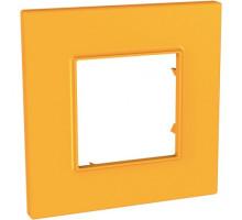 Рамка 1 место, оранжевый Citrus, Unica Quadro Schneider MGU4.702.29