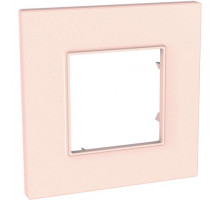 Рамка 1 место, розово-жемчужный, Unica Quadro Schneider MGU4.702.37