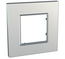 Рамка 1 место, серебряный, Unica Quadro Schneider MGU6.702.55