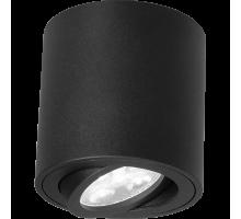 """Накладной точечный светильник поворотный """"Бочонок"""" DL 18451 R BK чёрный"""